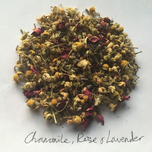 Chamomil, rose and lavender tea