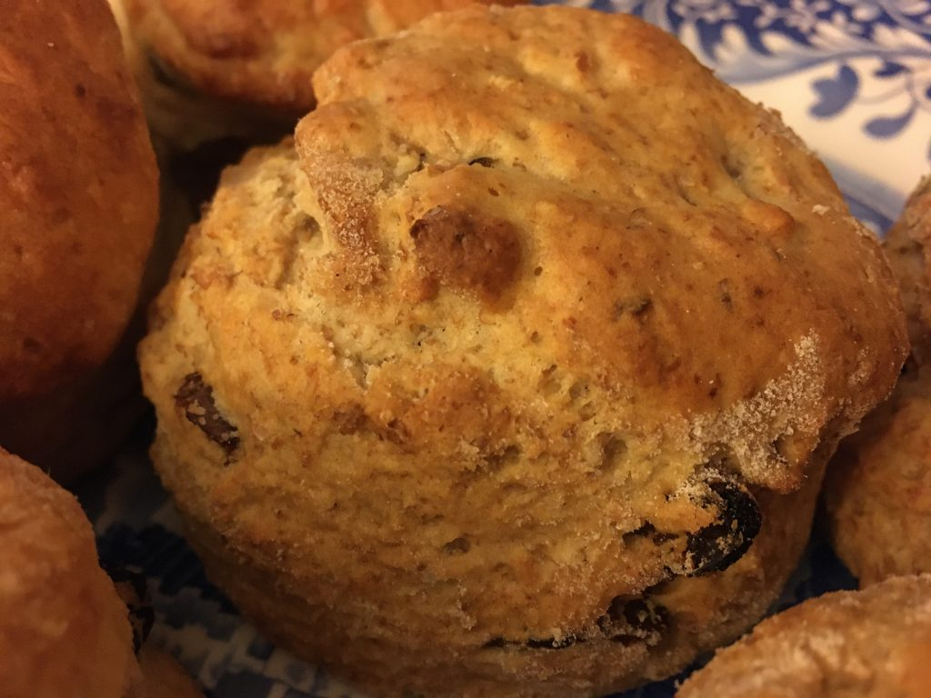 Close up of a scone